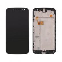 Pantalla LCD y tactil color negro Con Marco para Motorola Moto G4