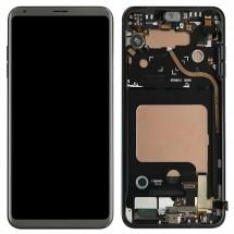Pantalla LCD y táctil color silver Con marco para LG V30 H930