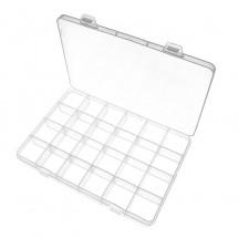 Caja de almacenaje / organizador de 24 compartimentos