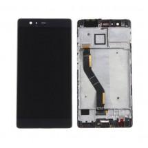 Pantalla LCD y táctil con Marco color negro Huawei P9 Plus