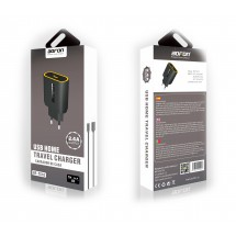 Cargador Bofon BF-TS10 2.4A para iPhone color Negro