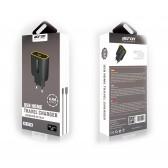 Cargador más cable Lightning Bofon BF-TS10 2.4A para iPhone, iPad, iPod color Negro