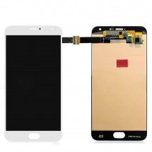 Pantalla LCD y táctil color blanco para Meizu Pro 5