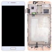 Pantalla LCD y táctil color blanco Con Marco para Huawei Mate 9 Pro