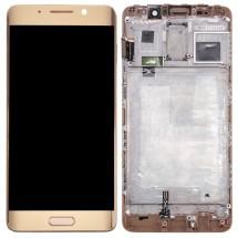 Pantalla LCD y táctil color dorado Con Marco para Huawei Mate 9 Pro