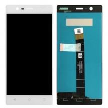 Pantalla lcd y táctil color blanco para Nokia 3