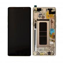 Pantalla LCD y táctil color Dorado con premarco para Samsung Galaxy Note 8 N950F