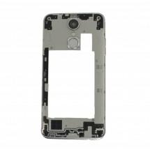Carcasa intermedia trasera con cristal lente cámara color blanco para para LG K4 2017 (swap)