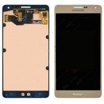 Pantalla completa LCD mas tactil color Dorado Samsung A7