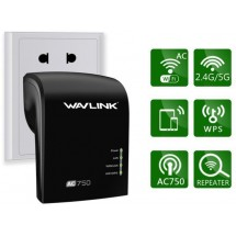 Repetidor / Amplificador Wifi Wavlink AC750 Dual 5Ghz + 2.4Ghz WPS