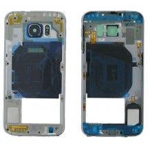 Carcasa intermedia mas buzzer y antena color gris Samsung Galaxy S6