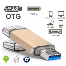 Pendrive 16Gb OTG conector USB 3.0 y Type-C 3.1 mod. NCK041 - elige color
