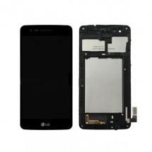Pantalla LCD y Táctil color negro Con Marco para LG K4 2017 M160