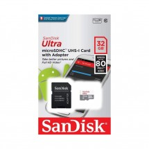 Tarjeta MicroSD 64GB SanDisk Clase 10 con adaptador SD