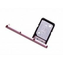 Bandeja porta tarjeta Sim y MicroSD color Rosa para Sony Xperia XA2