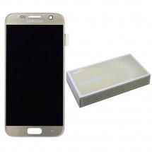 Pantalla ORIGINAL Service Pack LCD mas táctil color dorado para Samsung Galaxy S7 G930F
