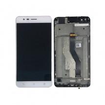 Pantalla LCD y Táctil color Blanco con Marco para Asus Zenfone 3 Zoom ZE553KL