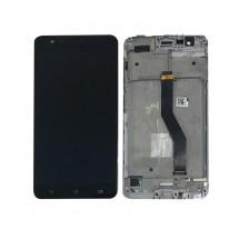 Pantalla LCD y Táctil color Negro con Marco para Asus Zenfone 3 Zoom ZE553KL