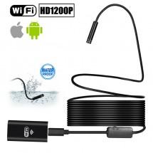 Cámara HD1200p espia / inspección WIFI con cable semirígido - LED - Resistente al agua IP68