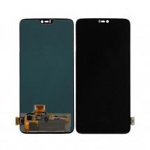 Pantalla completa LCD y tácil color negro para Oneplus 6