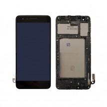 Pantalla LCD y táctil color negro Con marco para LG K9 X210 / K8 (2018)