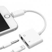 Adaptador Lightning a Puerto carga y Jack de audio para iPhone