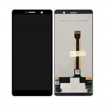 Pantalla completa LCD y táctil color negro para Nokia 7 Plus 2018