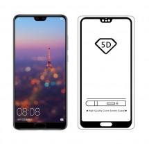 Protector Cristal Templado curvo 5D color negro para Huawei P20 Pro