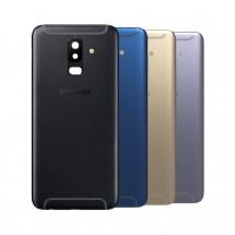 Tapa trasera con cristal lente para Samsung Galaxy A6+ A6 Plus 2018 (A605) - elige color