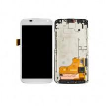 Pantalla completa LCD y Táctil color blanco con Marco para Motorola Moto X Force XT1580
