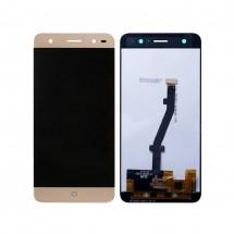 Pantalla completa LCD y táctil color dorado para ZTE Blade V6 Plus