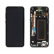 Pantalla LCD y tactil Con Marco color negro para Samsung Galaxy S8 Plus G955F