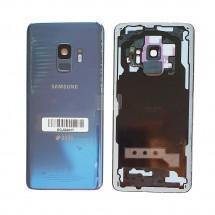 Tapa trasera con cristal lente y lector huella para Samsung Galaxy S9 G960F (swap) - elige color