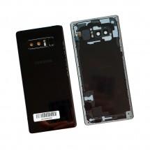 Tapa trasera con cristal lente y lector huella para Samsung Galaxy Note 8 N950F (swap) Negra