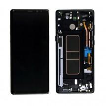 Pantalla LCD y táctil color negro con premarco para Samsung Galaxy Note 8 N950F