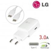 Cargador ORIGINAL Type-C LG MCS-H04ER Carga Rápida 3A + cable Micro USB Tipo C
