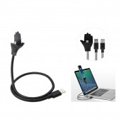 Soporte para móviles con cable semirígido Micro USB