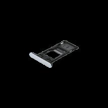 Bandeja porta tarjeta SIM y MicroSD color plata para Sony Xperia XZ2 Compact Dual