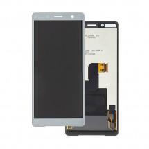 Repuesto de Pantalla completa LCD y táctil color plata para Sony Xperia XZ2 Compact