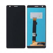 Repuesto de Pantalla completa LCD y táctil color negro para teléfono móvil Nokia 3.1