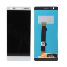 Pantalla completa LCD y táctil color blanco para Nokia 3.1