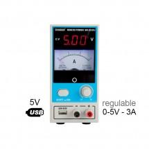 Zhaoxin MN-503DU Fuente de Alimentación Regulable 5V -  3A - USB