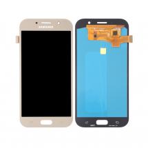 Pantalla completa LCD y tácil color dorado para Samsung Galaxy A7 2017 (A720F)
