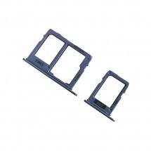 Bandeja porta Sim 1 y porta Sim 2 y MicroSD para Samsung Galaxy A6 / A6 Plus 2018 - elige color