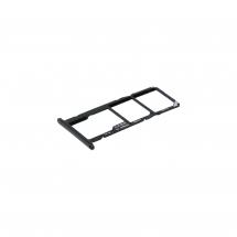 Bandeja porta tarjeta Dual Sim y MicroSD color negro para Huawei Honor 7S