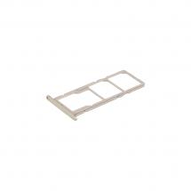 Bandeja porta tarjeta Dual Sim y MicroSD color dorado para Huawei Honor 7S