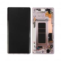 Pantalla completa LCD y táctil con Marco color Púrpura para Samsung Galaxy Note 9 N960