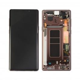 Pantalla completa LCD y táctil con Marco color Cobre para Samsung Galaxy Note 9 N960
