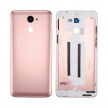 Tapa trasera color Rosa con cristal lente para Huawei Y7 2017 / Enjoy 7 Plus / Y7 Prime