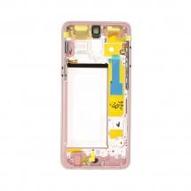 Marco frontal display color rosa para Samsung Galaxy A8 2018 (A530F)